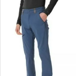 COLUMBIA Triple Canyon Fall Mens Hiking Pants Navy
